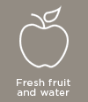 Fresh fruit and water